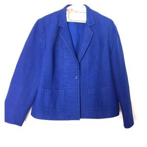 Jones New York Collection Woman Blue Blazer 16W